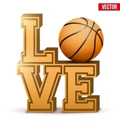 Love basketball inscription vector
