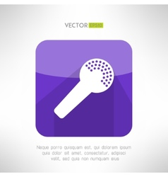 Microphone icon in modern flat design clean and vector