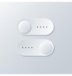 modern sliders light background vector image