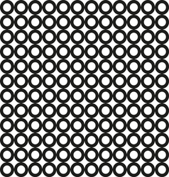 seamless black circle pattern vector image