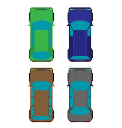 set of four cars flat vector image