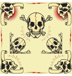Skull Frames vector image