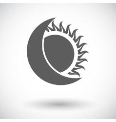 Solar eclipse single icon vector image