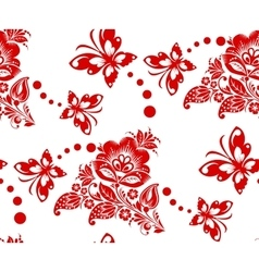 stylized floral seamless pattern vector image vector image