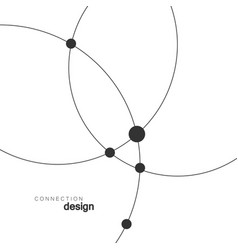Technology abstract dot and circle connection vector