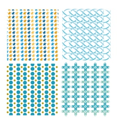 The geometric pattern abstract background set vector