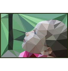 The girls face forest nature geometric vector