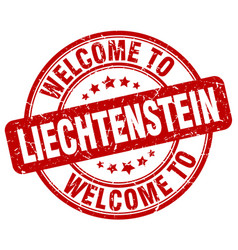welcome to liechtenstein vector image