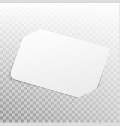 White card isolated on transparent background eps vector