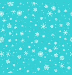 White snowflakes on turquoise background vector