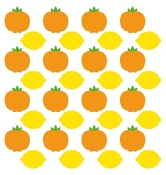 Tangerine and lemon fruits background design vector