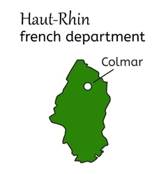 Haut-rhin french department map vector