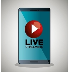 Smartphone video line streaming icon design vector
