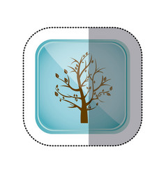 sticker color square frame and blue background vector image
