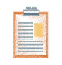 clipboard with document icon image vector image