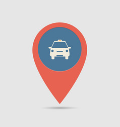 Map pin taxi vector