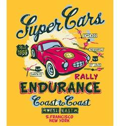 Coast to coast rally vector image