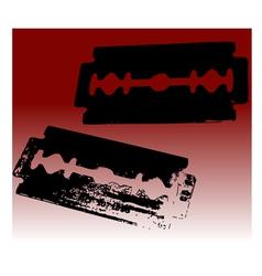 2 razor blades vector