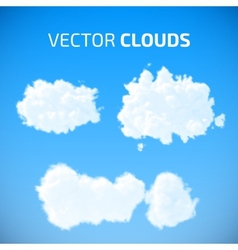Cloud set blue sky with clouds vector