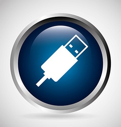Usb connection vector