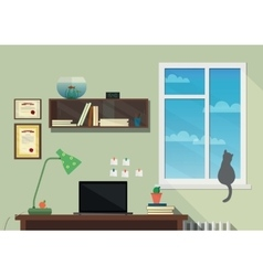 Flat design of the modern workplace vector