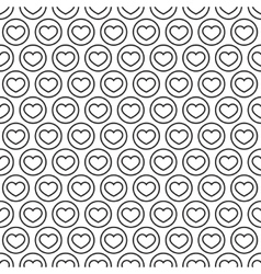 White and black heart seamless pattern vector