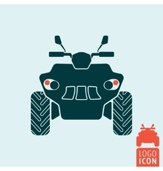 Quad bike icon vector