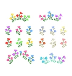 Tulips flowers set vector