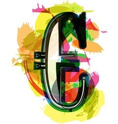 Artistic euro symbol vector