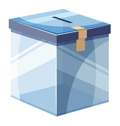 Box for donations icon cartoon style vector