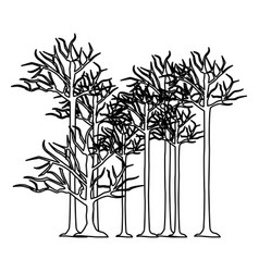 Figure trees without leaves icon vector