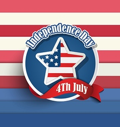 Fourth of july American independence day badges vector image