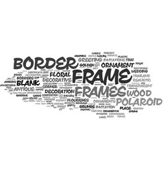 Frame word cloud concept vector