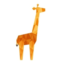 Giraffe silhouette low poly icon vector