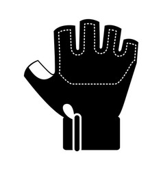 Gym glove isolated icon vector