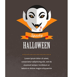 Halloween cute poster with Dracula vector image vector image