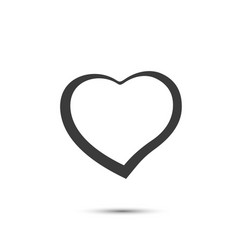 heart sign black icon on a white background vector image