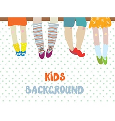 Kids background for kindergarten banner or card - vector image vector image