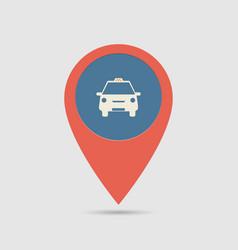 Map pin taxi vector