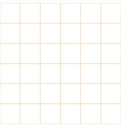 Orange Grid White Background vector image vector image