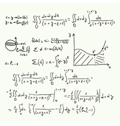 pattern with mathematical formulas vector image
