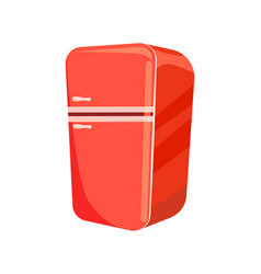 red refrigerator isolated icon vector image vector image