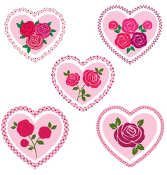 Rose valentine hearts vector