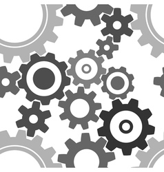 seamless cogwheel patterns vector image vector image