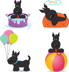 Set of funny dogs vector