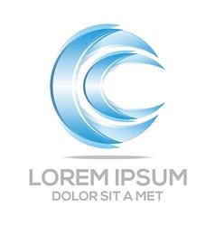 Sickle lettermark circle bussines vector