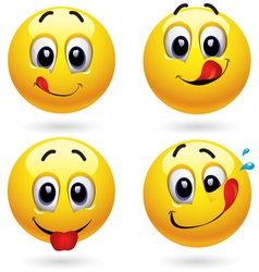 smiley faces vector image vector image