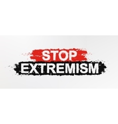 Stop extremism graffiti sign vector