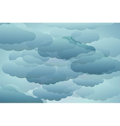 stylized blue clouds vector image
