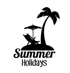 Summer holidays travel icon vector